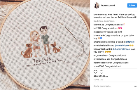 Diy stitch people book cross stitch portrait patterns even lauren conrad uses our book solutioingenieria Choice Image
