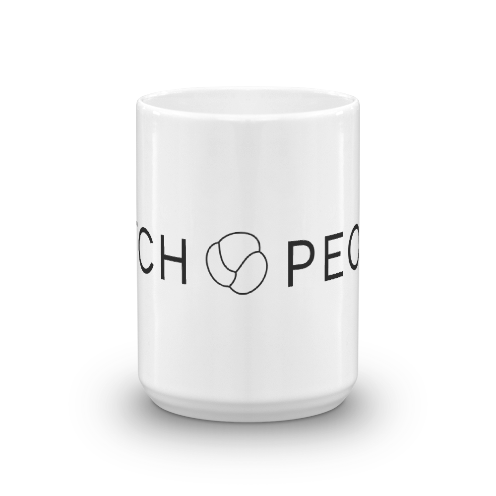 Stitch People Glossy Mug