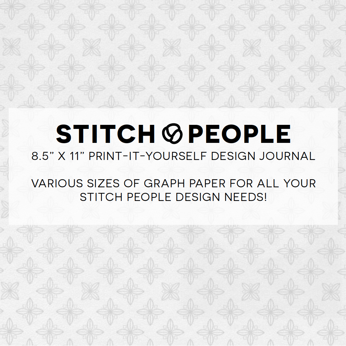 Free Printable Cross Stitch Design Journal Stitch People – Cross Stitch Graph Paper