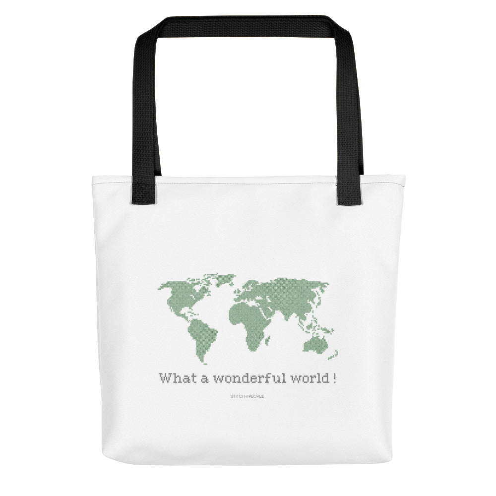 Wonderful World Stitch People Cotton Tote Bag