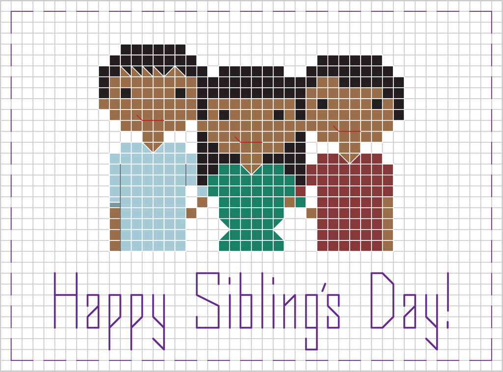 Free Sibling's Day Pattern
