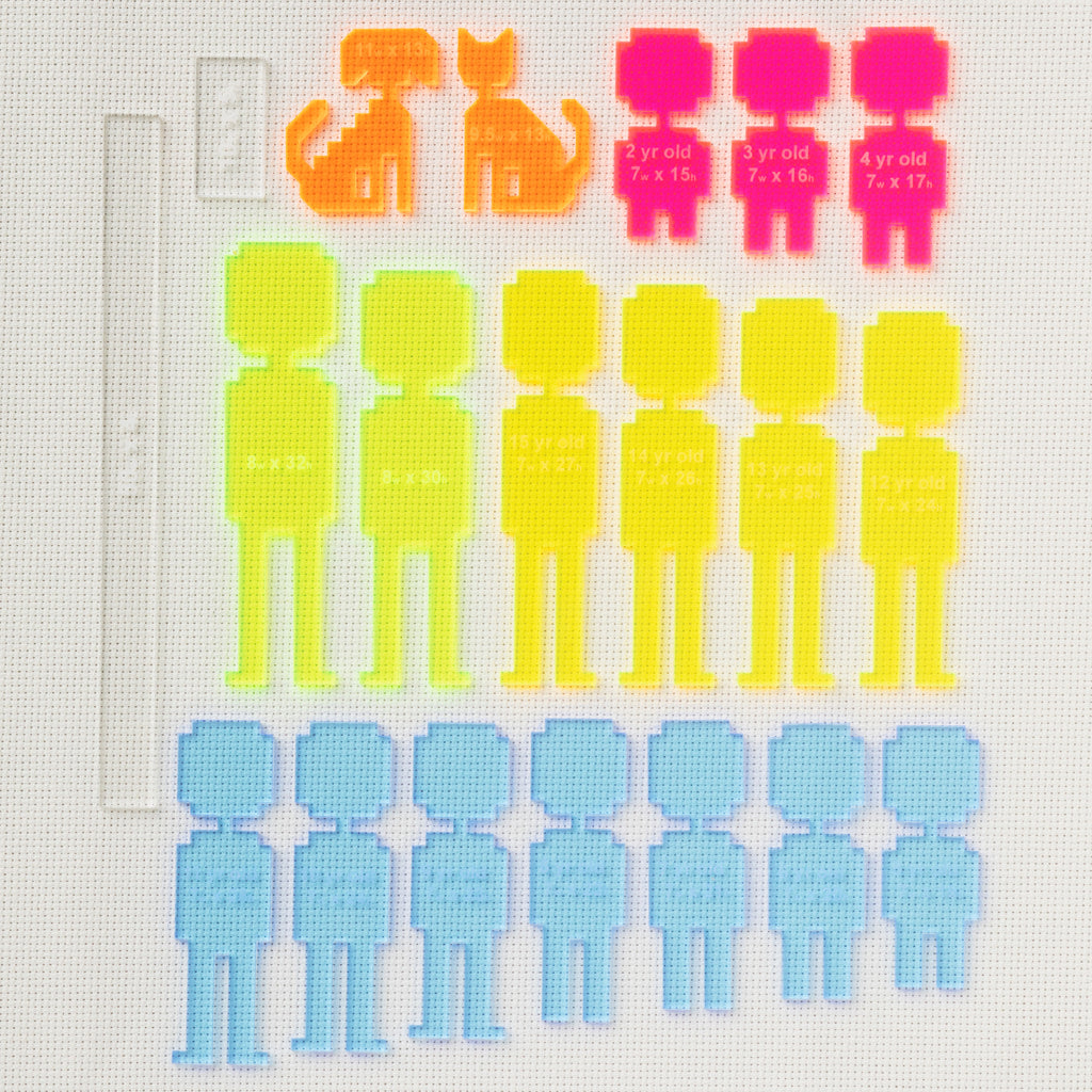 Traceable Stitch People Character Templates
