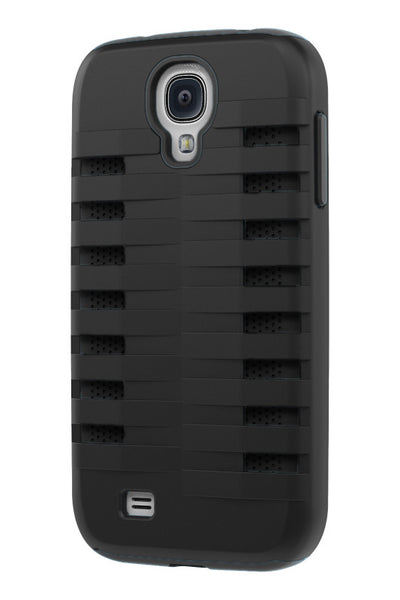 Galaxy S4 Two Layer Protective Case: Discovery - Black & Black