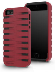 iPhone SE / 5S / 5 Two Layer Protective Case: Discovery - Red & Black