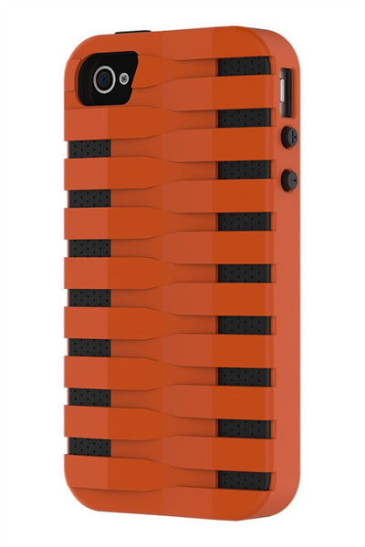 iPhone 4 & 4S Two Layer Protective Case: Discovery - Orange & Black
