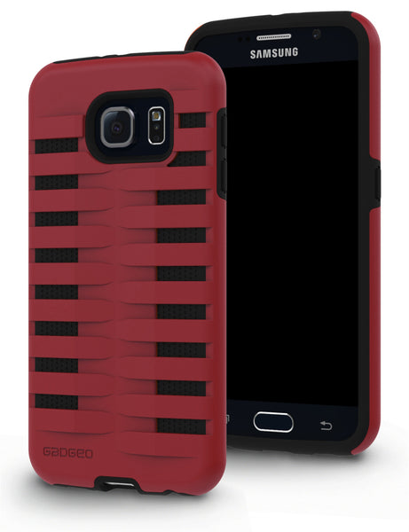 Galaxy S6 Two Layer Protective Case: Discovery - Red & Black
