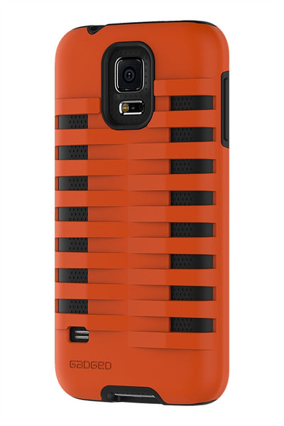 Galaxy S5 Two Layer Protective Case: Discovery - Orange & Black