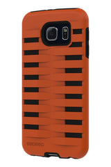Galaxy S6 Two Layer Protective Case: Discovery - Orange & Black