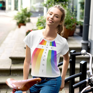 All-Over Print Crop Tee - Rainbow - Covenant