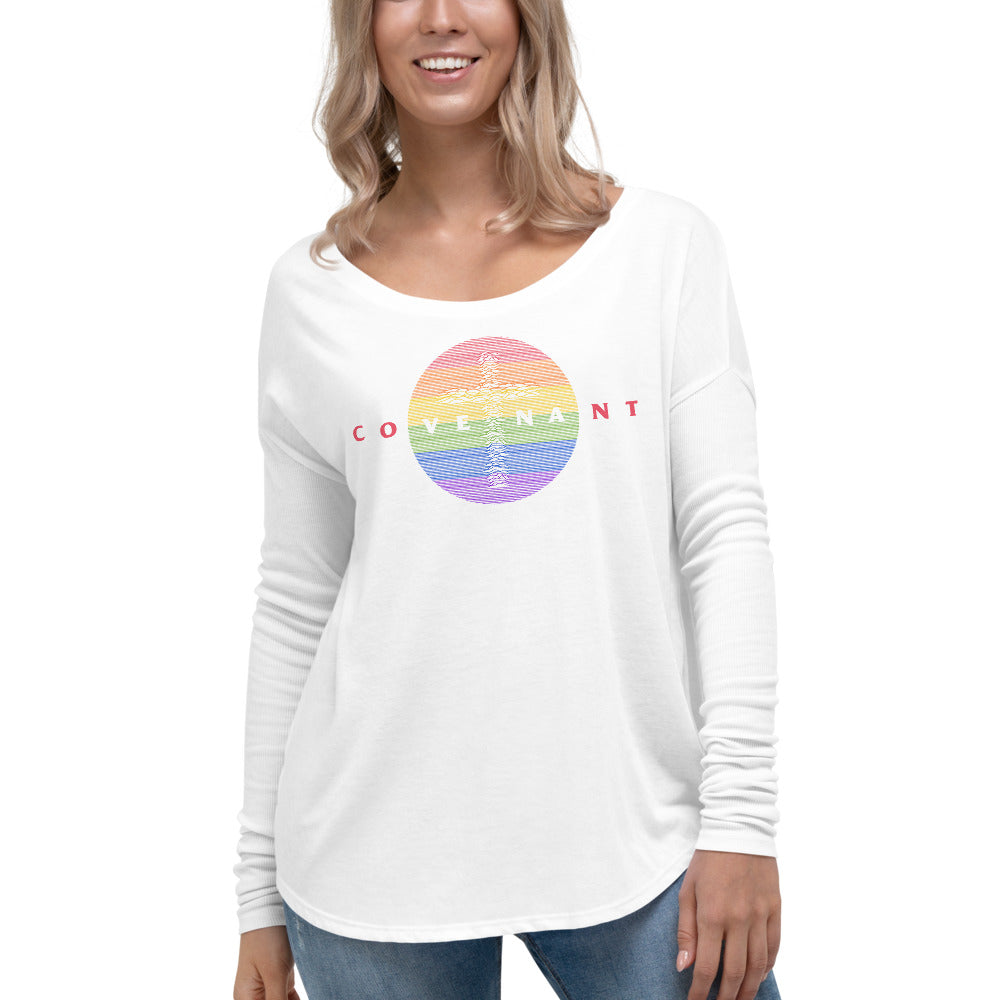 Ladies' Long Sleeve Tee - Rainbow - Covenant