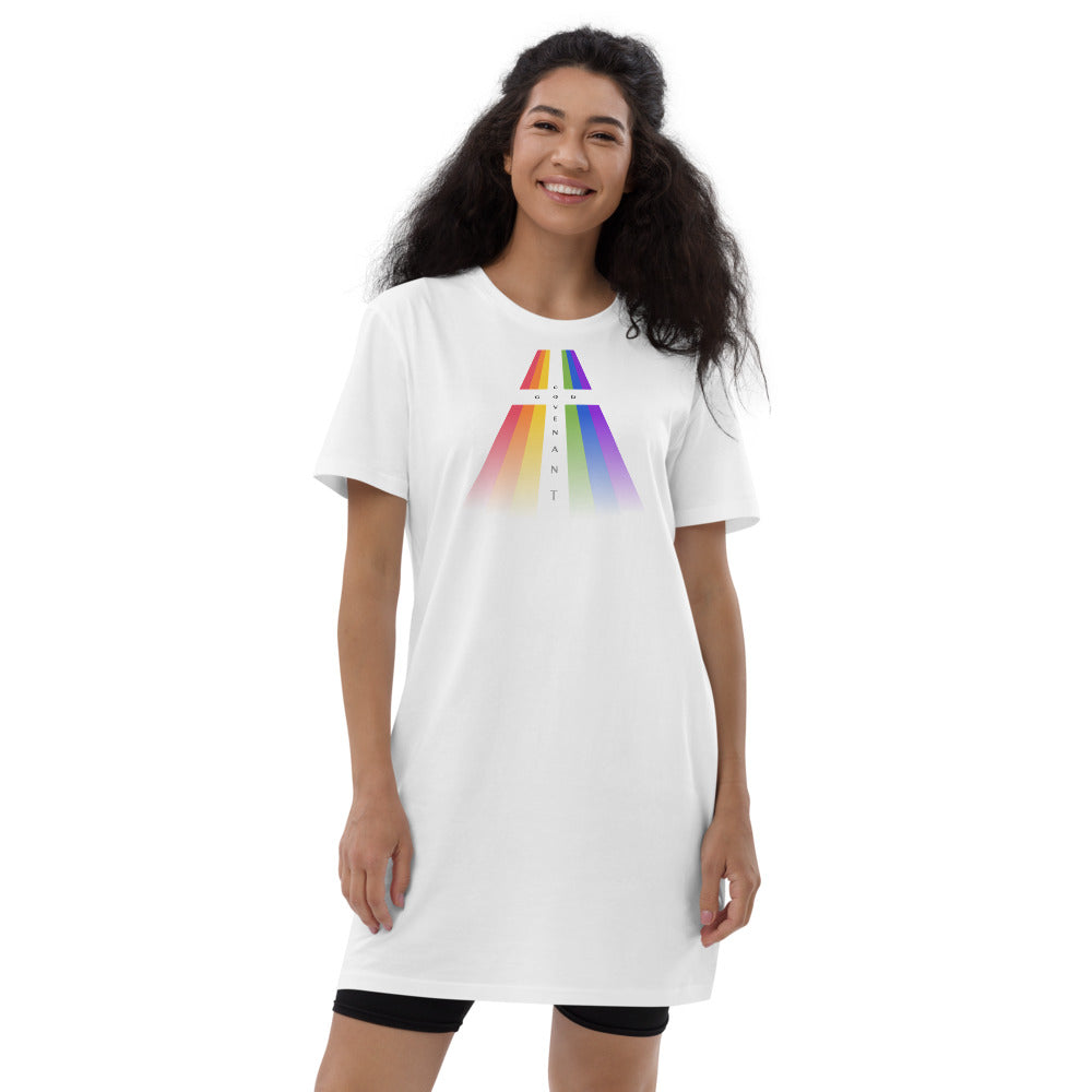 Organic cotton t-shirt dress - Rainbow - Covenant
