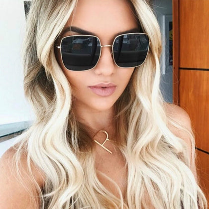 5af7a18976 2018 Newest square frame vintage sunglasses Women Oversized Big Size Sun  Glasses for Men Female Shades Gold gray UV400 Eyewear