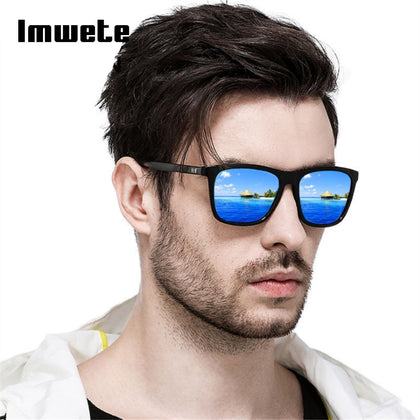 d6bba15236ef Imwete Polarized Sunglasses Men Sun Glasses Fashion Square Black Frame  Driving Travel UV400 Polaroid Eyeglasses