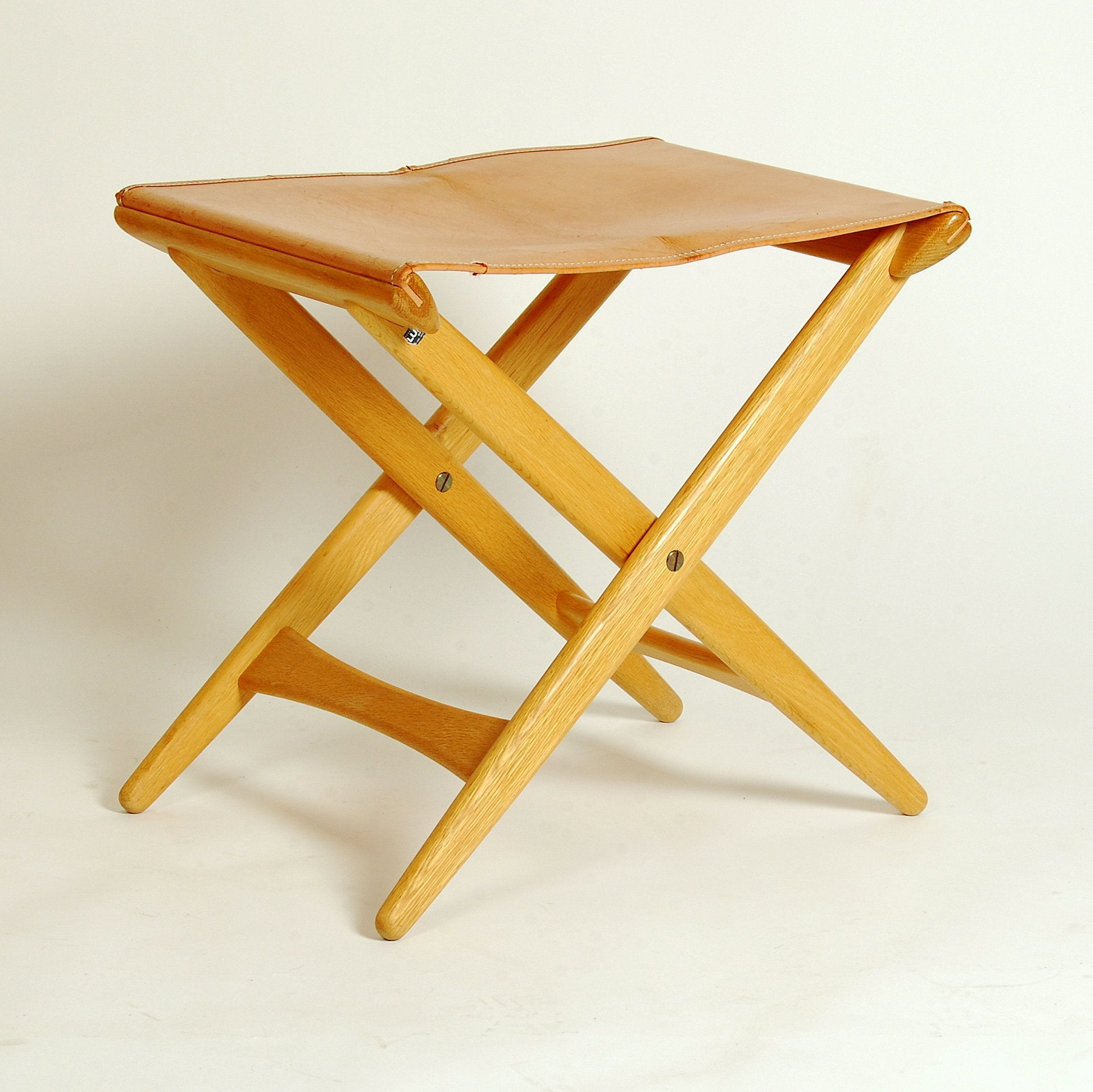 Folded Stool by Uno & Östen Kristiansson for Luxus