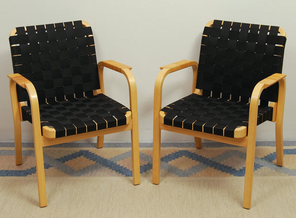 Model 45 Armchairs by Alvar Aalto for Artek, Set of 2