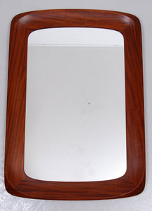 1960s Mid-Century Swedish Walnut Mirror from Ateljé Glas & Trä