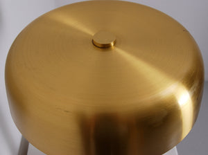 1960s Table Lamp in Brass and Leather by Boréns