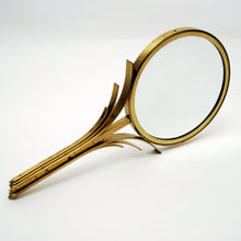 Load image into Gallery viewer, Art Deco Hand Mirror in Brass by Ystad Metall, 1930s