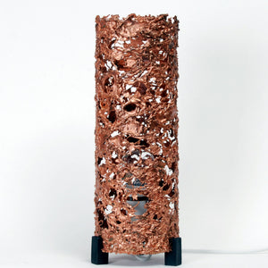 1960s, Brutalist Copper Table Lamp