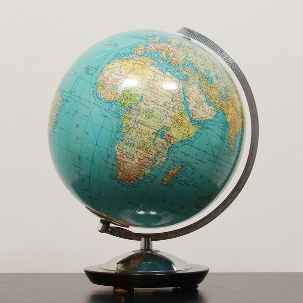 Columbus Duo Glass Globe by Columbus Verlag. 1960S