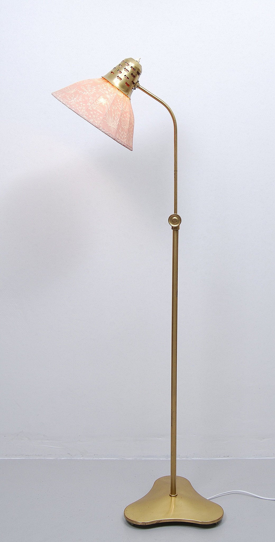 Brass Floor Lamp by Hans Bergström for ASEA, 1940s