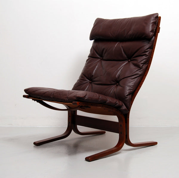 Siesta High Back Sling Lounge Chair and Ottoman by Ingmar Relling for Westnofa