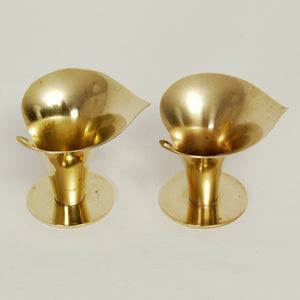 Carl Einar Borgström Brass Candle Holders for Ystad Metall, Set of 2