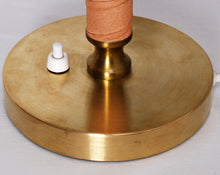 Load image into Gallery viewer, 1960s Table Lamp in Brass and Leather by Boréns