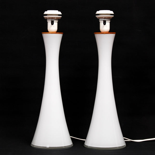 Bergboms Opaline Glass Table Lamps Set of 2, 1960s