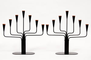 Gunnar Ander Candelabras for Ystad Metall, Set of 2, 1970s