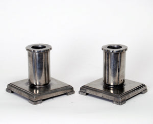 GAB Candleholders in Pewter Attributed to Jacob Ängman, 1933