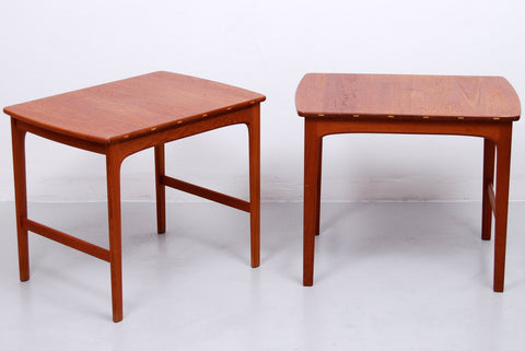 1960s Pair of Side Tables in Solid Teak by Yngvar Sandström