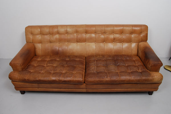 Sofa Merkur by Arne Norell in Buffalo Leather, 1960s