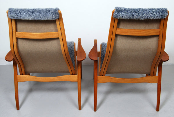 Pair of Lamino Lounge Chair by Yngve Ekström for Swedese
