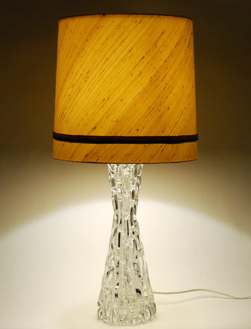 Crystal Table Lamp by Carl Fagerlund, Orrefors