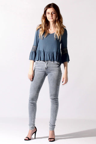 """Dina"" Stretch Denim Leggings"
