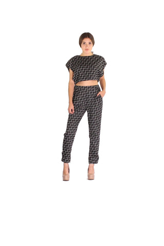 Crop Top and Pants Set