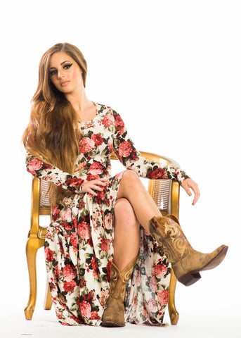 Karla Floral Long Sleeve Maxi Dress
