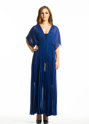 Sheer Chiffon Maxi Dress with Beaded Tassel Plus Size (more colors)