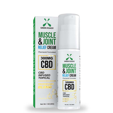 GREEN ROADS – Soothing CBD Topical Cream – 300 mg