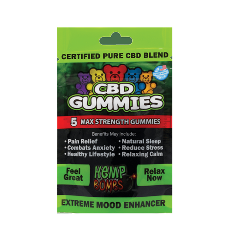 HEMP BOMBS 15MG PER PIECE – GUMMIES 5PCS