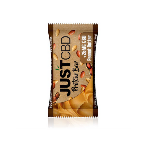 Just CBD Peanut Butter Protein Bar, 25mg