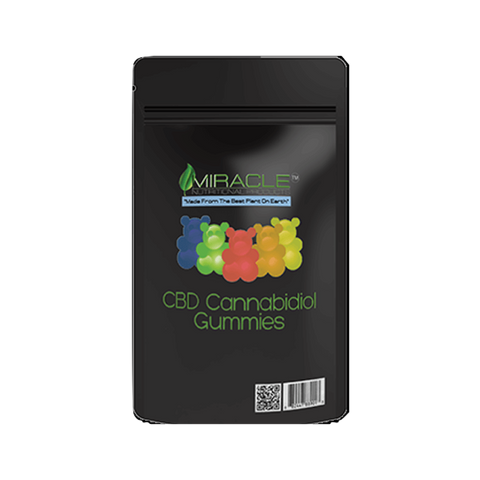 MIRACLE CBD ASSORTED GUMMIES 50MG PER GUMMY 6PCS, 300mg