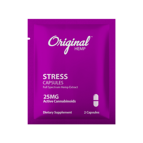 Original Hemp CBD Daily Dose Capsules, 25mg - Stress