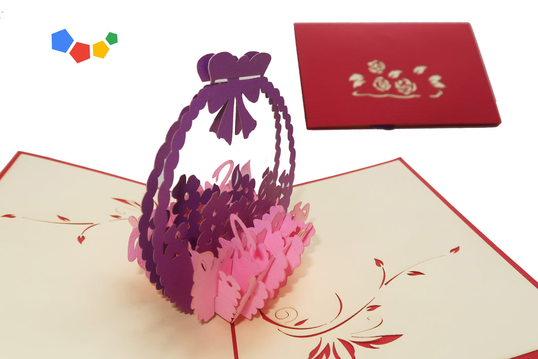 FLOWER BASKET 3D POP-UP CARD