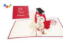 Load image into Gallery viewer, GRADUATION OWL 3D POP-UP CARD