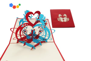 ANGELS WITH HEART 3D POP-UP CARD