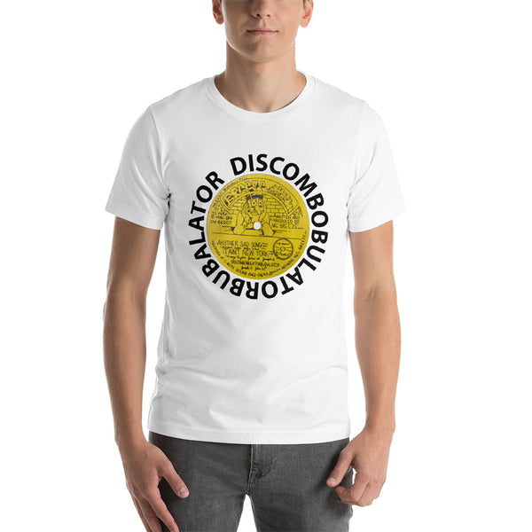 Discombobulabel white Short-Sleeve Unisex T-Shirt