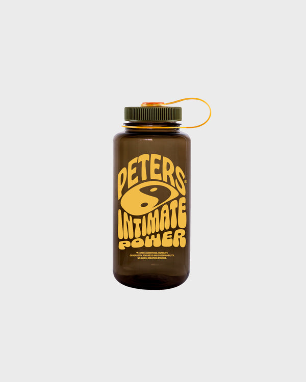 1L Intimate Power Wide Mouth Nalgene Water Bottle - Brown