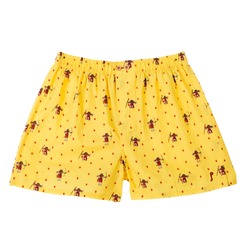 Peter Maasai: Yellow, with Peter as a maasai. Limited edition boxers designed in Barcelona. 100% soft cotton poplin.